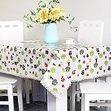 DSAAA Sencillez moderna mantel de PVC transparente de vidrio y suaves sábanas de tela de tapa mesa,80*140cm