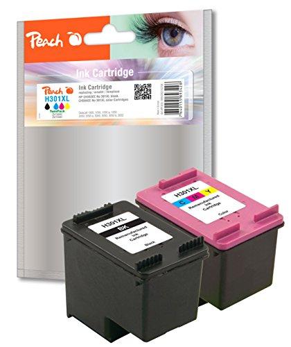 Preisvergleich Produktbild Peach Spar Pack Druckköpfe kompatibel zu HP No. 301XL, CH563EE, CH564EE
