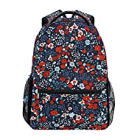 Flowery Bright Pattern School Backpack Large Capacity School Bag Canvas Casual Travel Daypack Perfect for Women Men Girls Boys