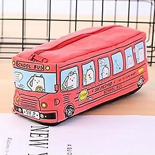 jieGREAT ❤❃ Büromaterial Räumungsverkauf❤❃,Schüler Kids Cats Schule Bus Bleistift Tasche Büro-Tasche FreeShipping