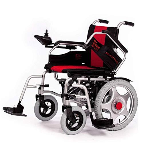 A~LICE&C Elektro-Rollstuhl, Ultra-tragbare Falten Elektro-Rollstuhl (12A Lithium-Batterie) 250W Dual-Motor -