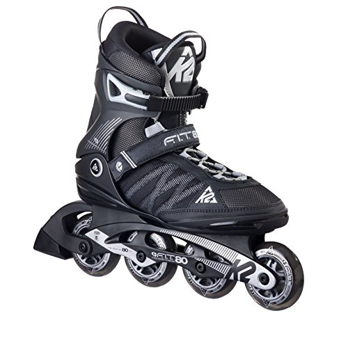 K2 Inline Skate Herren Fit 80, schwarz, 45 EU