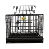 QNMM Cage pour Chien Pet Fence avec Caisse de lumière Pliante en métal Chenil idéal pour Les...