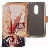 Lankashi PU Flip Leder Tasche Hülle Case Cover Handytasche Schutzhülle Etui Skin Für ZTE Blade A910 5.5