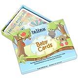 TALINU Erinnerungs-Karten für Ihr Baby-Buch zum Fotografieren | zum Festhalten einzigartiger Momente im ersten Jahr Ihres Babys | Baby-Karten, Meilenstein-Karten