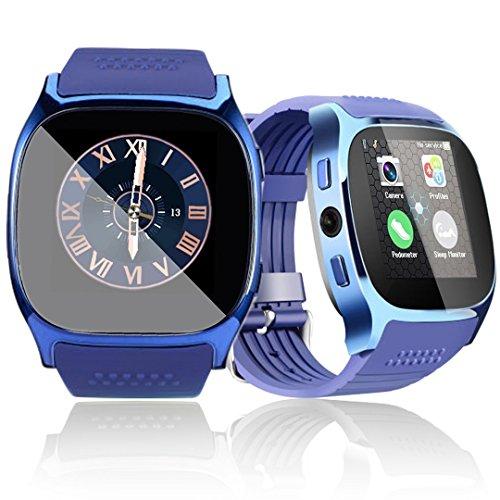 1.54» Montre Intelligente Bluetooth Montre connectée SmartWatch écran tactile avec Caméra Podomètre Sleep Monitor Fitness tracker d'activité Bracelet pour Android Smartphones
