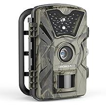 """Wildkamera 1080P 12MP 1080P Full HD Wasserdichte Jagdkamera Gartenkamera 120°Breite Vision 65ft Infrarote 20m Nachtsicht 2.4"""" LCD Tierbeobachtungskamera"""