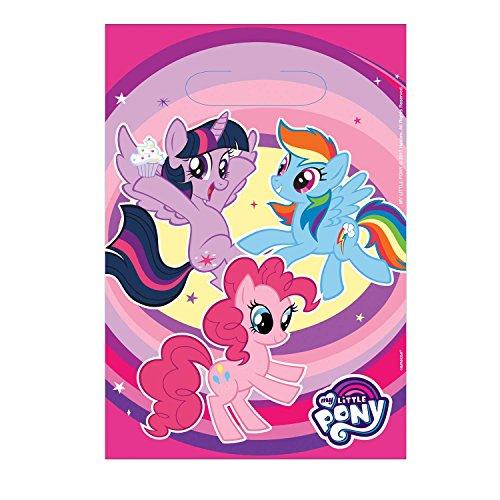 Amscan International 9902513 My Little Pony Partytüten für Mitgebsel Kindergeburtstag, 8 Stück (My Little Pony-pinatas)