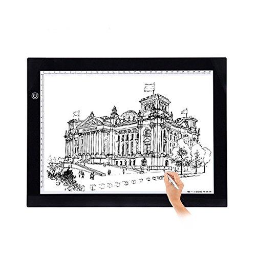 GOTOTOP USB A2/A3/A4 LED Grafiktablett Touchpad Animation Bleistift Skizze Lightbox (A4)
