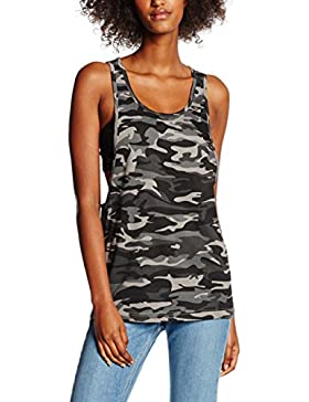 Urban Classics Ladies Camo Loose, Tank Top Donna, Medium
