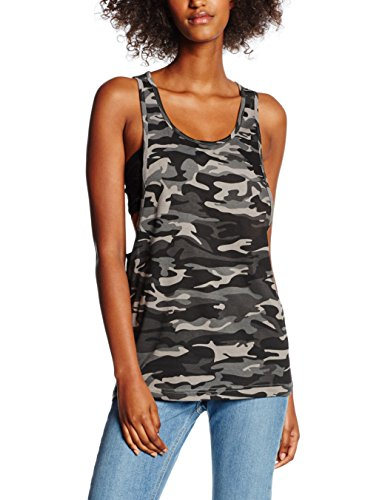 Urban Classics Ladies Loose, Tank Top Donna, Mehrfarbig (Urban Camo 378), M