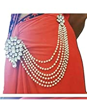 c245f078d8a JN HANDICRAFT White Copper Multilayer Waist Belt/Belly Chain and Saree Pin  for Women