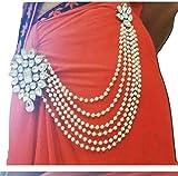 #9: Jn Handicraft Multilayer Waist Belt/Belly Chain & Saree Pin for Women/Girls