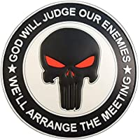 GOD WILL JUDGE OUR ENEMIES Punisher DEVGRU Navy Seals PVC Hook&Loop Patch
