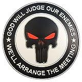 GOD WILL JUDGE OUR ENEMIES Punisher DEVGRU Navy Seals PVC Fastener Aufnäher Patch