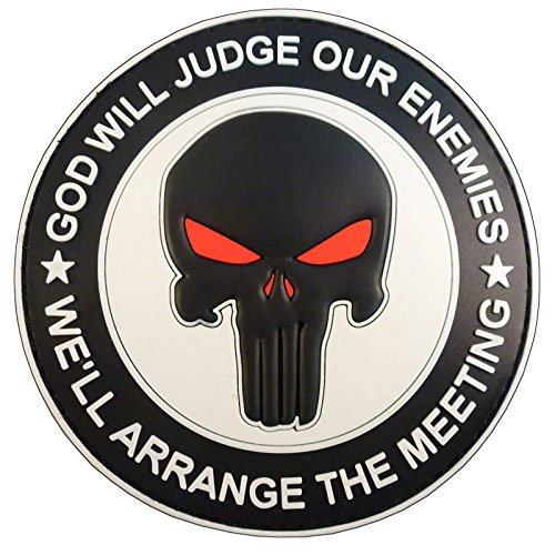 GOD WILL JUDGE OUR ENEMIES Punitore Punisher DEVGRU Marina Navy Seals PVC Velcro Toppa Patch