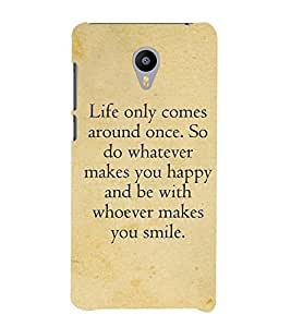 Life Quote 3D Hard Polycarbonate Designer Back Case Cover for Meizu M2