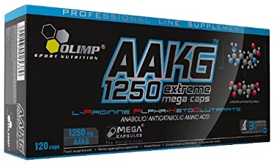 AAKG Extreme Mega Caps - 120 caps booster nitric oxide power energy strength stimulation focus muscle pump by Olimp Nutrition from Olimp Nutrition