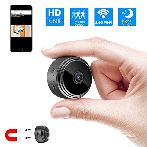 SmartCam Mini WiFi Camera Wireless HD 1080P Indoor Home Small Security Camera, with Motion Detection/Night Vision for iPhones/Android Phones/iPads/PCs