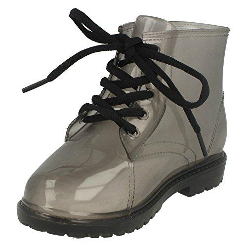 Spot On Mädchen Jelly Boots Transparent (34EU / 2UK) (Rauch) (Jelly Rauch)
