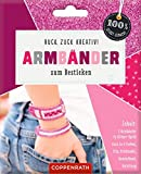 Ruck, zuck kreativ! Armbänder zum Besticken: Armbänder in Glitzer-Optik - pink (100% selbst...