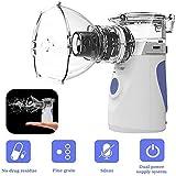 JYZ Mini Nebulizzatore Inalatore, Inalatore Nebulizzatore Silenzioso Elettrico con Boccaglio e Maschera Steamer facciale per i Bambini e Adulti
