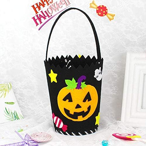 LanLan Halloween DIY Trick ou TraiteHommes t de Sac de Bonbons Non-tissé Tissu matériel Pack pour Sac à Main de Poche à la Main | 2019