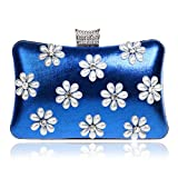LWZY Abendessen-tasche Banketttasche Abendtasche Clutch handtaschen-Blau 5x12x20cm(2x5x8inch)