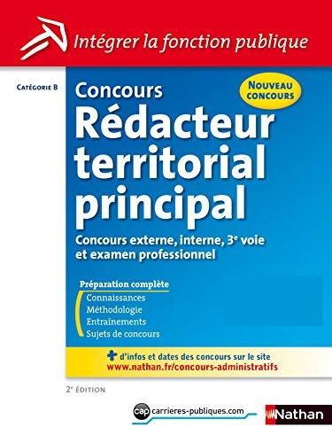 Concours Rédacteur Territorial principal - Catégorie B
