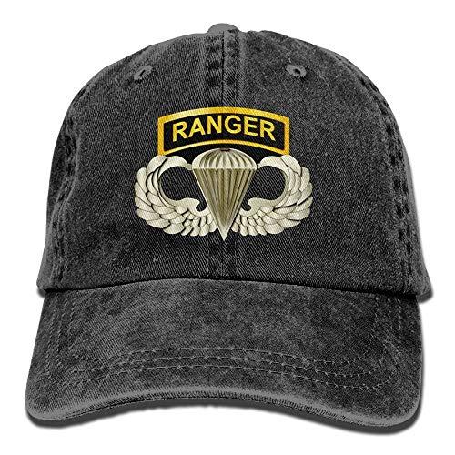 2c719fb5d5d21 Nigmfgvnr 101st Airborne Ranger Tabs Mens   Womens Baseball Cap Retro Jean  Snapback Hat