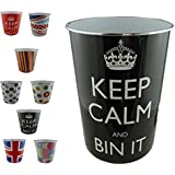 Waste Paper Bins - For Keeping Your Surrounding Clean (Pack of 1, Black)