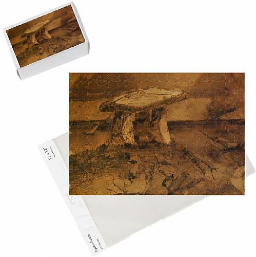 photo-jigsaw-puzzle-of-dolmen-ou-m-a-parle-la-bouche-d-ombre-pen-a-ink-and-wash-on-paper