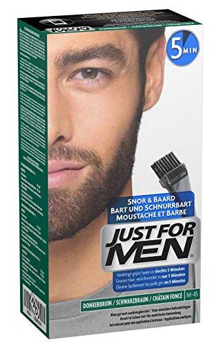 Just For Men - M45 Pflege Brush In Color Gel für Bart, Schnurrbart, Schwarzbraun, 1er Pack