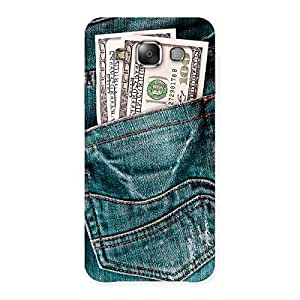 Enticing Dollars Jeans Back Case Cover for Galaxy E7