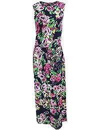 Universal Textiles Womens/Ladies Sleeveless Rose Print Maxi Summer Dress