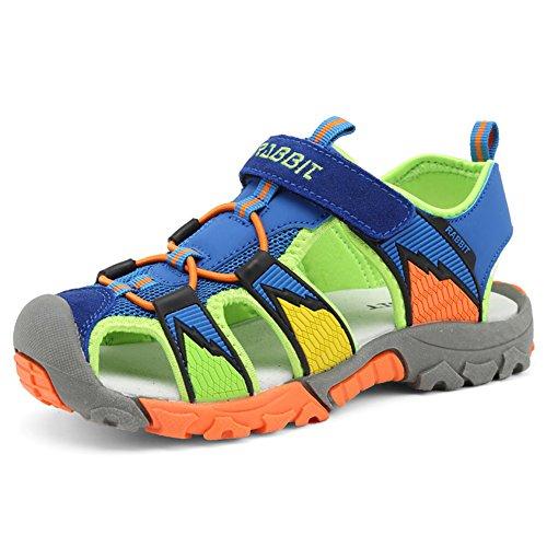 Chiusi sandali sportivi estivi per bambini e ragazzi scarpe da trekking da camminata sandaletti bimba all'aperto,blu 36