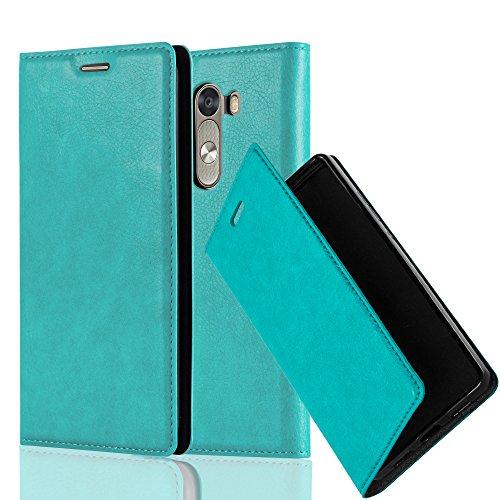 Cadorabo Hülle für LG G3 - Hülle in Petrol TÜRKIS - Handyhülle mit Magnetverschluss, Standfunktion & Kartenfach - Case Cover Schutzhülle Etui Tasche Book Klapp Style