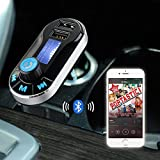 [Upgraded Version] VicTsing Bluetooth MP3 Player FM Transmitter Hands-free Car Kit Charger, Dual USB Charging 5V/2.1A Output, Micro SD/TF Card Reader Slot for iPhone SE 6s 6s Plus iPhone 6 6 Plus, iPad, etc - Silver Bild 6