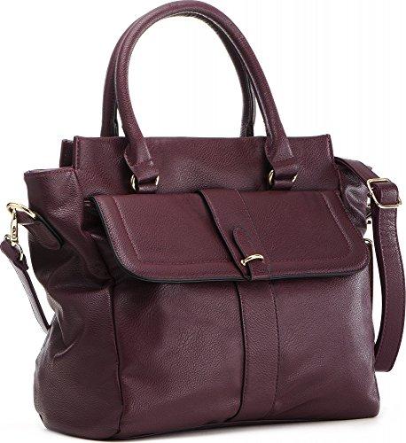 MASQUENADA, borsa da donna, Borsa da shopping, Borsa per compere, Borsa a mano, 27 x 26,5 x 12 cm rosso vino