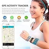 Winisok Fitness Armband mit Blutdruckmessung Pulsmesser, Fitness Tracker Uhr Wasserdicht IP67 Schrittzähler Uhr Stoppuhr Sport GPS Aktivitätstracker Schlafüberwachung Anruf SMS für Kinder Damen Männer - 3