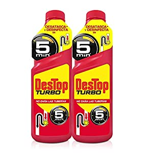 desatascar fregadero: Destop Gel Desatascador Turbo - paquete de 2