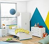 Jugendbett Einzelbett Kinderbett Bett Jugendliege Bettgestell Weiß 90x190cm Kinderzimmer Jugendmöbel