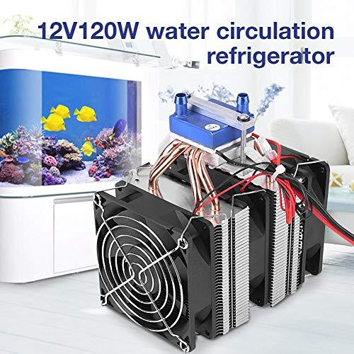 hifuture 12V120W Peltier Kühler Wasserkreislau Kühlsystem Kühlkörper Conduction Modul Halbleiter Thermoelektrischer Kühler -