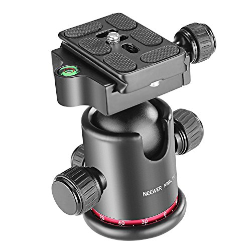 "Neewer Testa a Sfera Panoramica a 360°in Metallo con 1/4"" Piastra a..."