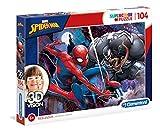 Clementoni- Spiderman Puzzle 3D Vision, 104 Pezzi, 20148