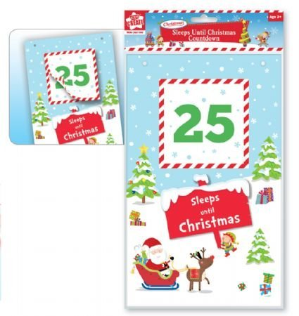 Kids Create -Sleeps to Christmas Countdown Advent Calander Wall Hanging Kids Decoration