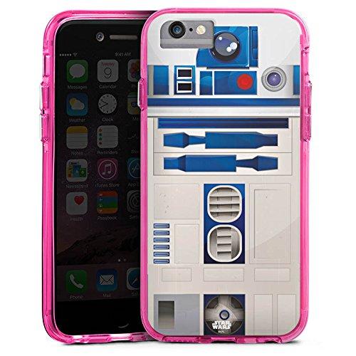 Apple iPhone SE Bumper Hülle Bumper Case Schutzhülle Star Wars Merchandise Fanartikel R2D2 Bumper Case transparent pink