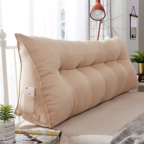 HSMM Lesen Kopfkissen,dreieckiges Keilpolster,Sofa Bett Rückenlehne,atmungsaktive Multifunktionale Weich Schlafzimmer Abnehmbare-e 60x21x45cm(24x8x18inch) -