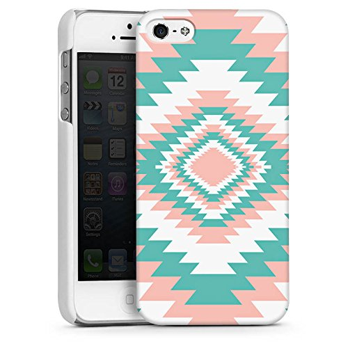 Apple iPhone 5 Housse Outdoor Étui militaire Coque Ethnique Printemps Motif CasDur blanc