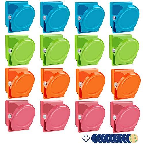 Klammer Kühlschrank/ Pinnwand/ Whiteboard Magnet Clips Haken aus soliden Metall für Haus, Büro, Schule - 30mm Breite / Blau, Grün, Rosa, Orange ()